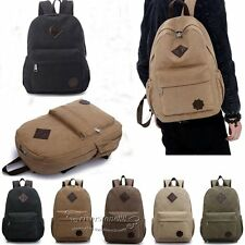 Bag Canvas Men's Vintage Backpack Rucksack Laptop Shoulder Travel Camping Bags