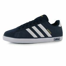 Adidas Derby Vulc Suede Trainers Mens Navy/White Casual Sneakers Shoes Footwear