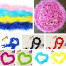 New Beauty Marabou Bridal Fluffy Feather Boa Costume Party Bouquet Dressup Decor