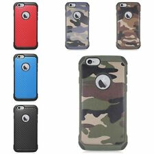Hard Hybrid Camouflage Shockproof Rubberized Silicone Case For Apple iPhone 6/6s
