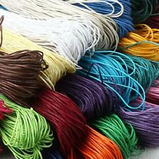 10m Waxed Nylon Cord Thread Jewelry Necklace Making Beading String Crafts 1.5mm
