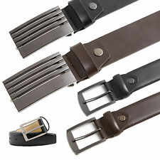 Mens Leather Buckle Design Belt Mens Real Leather Pierre Roche Fancy Belt S-XXL