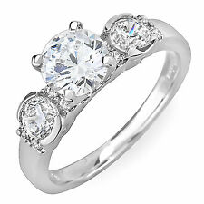 Antique Style 3 Stone EGL 1.96 Carat Round Cut Certified Diamond Engagement Ring