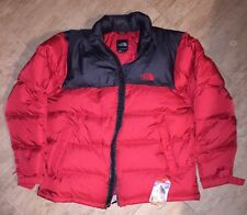 New With Tags Mens Red & Black NORTH FACE Down NUPTSE Jacket, Puffer Sz XXL, 700