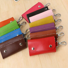 New PU Key Ring Bag Chain Car Accessories Pouch Wallet Case Key Holder 8 Color