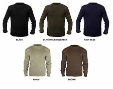 Military Style Sweater CREW NECK Pullover US Army Navy Marines Commando Seals