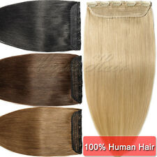ONLY BEST REMY WEFT Clip in Real Human Hair Extensions One Piece Popular UK U401