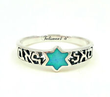 Prosperity Kabbalah Ring Opal Star Of David Sterling Silver Jewelry From Israel