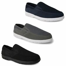 New Mens Slip On Twin Gusset Memory Foam footbed Comfy Casual Loafers Shoes Size