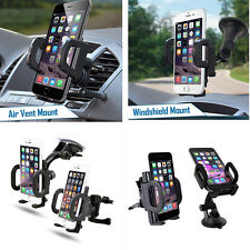2 In 1 Car Phone GPS Holder 360 Rotation Air Vent Mount And Windshield Holder
