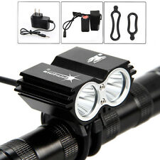 SolarStorm 6000lm 2x CREE XML T6 LED Head Front Bike Bicycle Light Headlamp Set