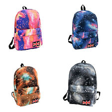 Unisex Galaxy Space Travel Rucksack Backpack Canvas Bag School Bookbag Satchel Y