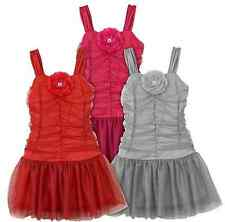 IZ Amy Byer Glitter Floral Tutu Skirt Dress Girls 6x Red Gray
