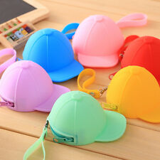 Cute Baseball Cap Shape Silicone Coin Purse Mini Coin Wallets Change Purse Bag