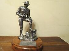 MICHAEL RICKER Limited Edition 1983 PEWTER SCULPTURE American Soldier