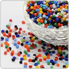 11/0 Glass Seed Beads - Mixed Colours Opaque - Approx 2mm 75g/150g Packs, Craft
