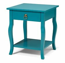 Lillian Wood Side Table Nightstand with Drawer and Shelf by Kate and Laurel