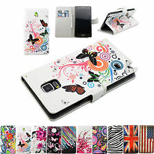 Flower Series Stand Book Flip Leather Pouch Wallet Cover Case For Samsung Phone