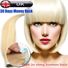 European Remy+ Straight Tape-in Human Hair Extensions Blonde 40-60pcs 150g U454