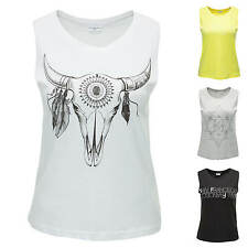 JdY Only Ladies Tank Top T-Shirt Print-Shirt Longshirt Longtop Print/Color Mix %