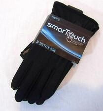 Mens new Isotoner winter gloves smart touch size M L black nwt