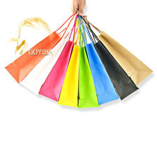 50 PCS Kraft Paper Gift Bags with Handle Shopping Party Supply Custom Wholesale