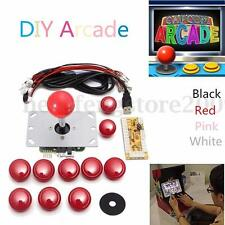 DIY Durable Arcade 5 Pin Joystick USB Encoder + 10 Push Buttons For Game Machine