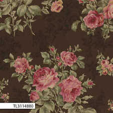 Lecien-Antique Rose Brown Floral 31148-80 by the metre fabric by Lecien/Quilting