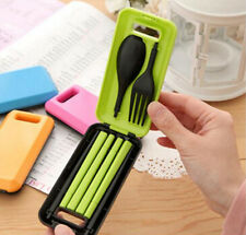 Portable Tableware Set for Travel Plastic Cutlery Camping Spoon Fork Chopsticks