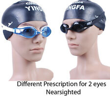 Customized Prescription Optical Swimming Goggles Nearsighted swim goggles