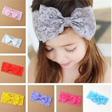 Stylish Kids Girl Baby Headband Toddler Lace Bow Flower Hair Band Accessories