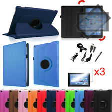 """Fire HD 10 5th 2015 Amazon Kindle 10"""" Leather Case Cover + 3pcs Screen Protector"""