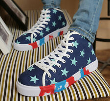 Mens Lace Up Flat Canvas Casual New Running Sports New Athletic Sneaker Shoes Sz