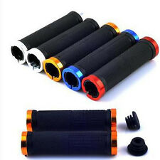 Mountain Bike Bicycle Scooter Anti-slip Soft Rubber Handle Bar Ends Hand Grips.H