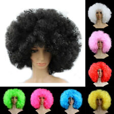 Funny Afro Curly Wig Circus Clown Party Halloween Cosplay Fancy Dress Costume