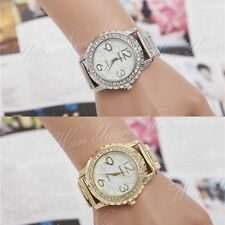 Ladies Women Girl Stainless Steel Band Analog Quartz Wrist Watch Vogue Elegant