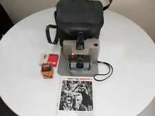 POLAROID SWINGER II 2 LAND CAMERA WITH MANUAL AND CASE AND FLASGUN  VINTAGE
