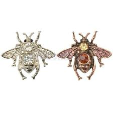 Fashion Punk Women Bug Brooch Pin Crystal Honey Bee Brooch Insects Pin Jewelry