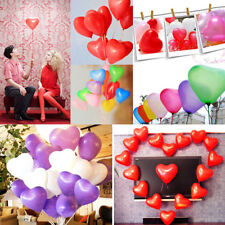 200pcs Colorful Heart Shaped Latex Balloons Wedding Birthday Party Decoration fe