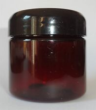 12 2-oz Amber Plastic Jars+Dome Lid/Optional Liner/empty wholesale lot container