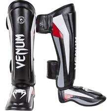 Venum Elite Shin and Instep Guards (Black) - mma sparring shinguards