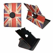 COVER CASE FOR APPLE IPAD MINI VINTAGE UNION JACK LEATHER 360 DEGREE ROTATING