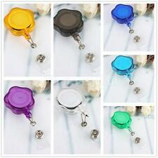 Flower Clip Retractable Reel ID Badge Card Holder Key Chain Reels with Metal