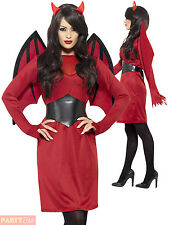 Ladies Economy Devil  Costume Women Halloween Fancy Dress Adult Sexy Outfit 8-18