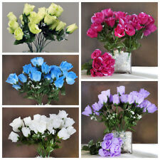 84 Silk Buds Roses Wedding Flowers Bouquets Wholesale Supply for Centerpieces