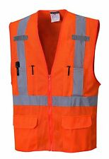 High Visibility ANSI Class 2 Safety Mesh Vest, ORANGE, US370