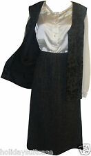 NEW LADIES WOMANS 2PC WAISTCOAT/SKIRT SUIT SIZE 16 OR 18 UK BLACK