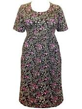 New Ladies Black and Pink Maxi Sundress - 16/18 20/22 24/26 28/30 32/34