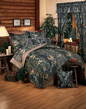 MOSSY OAK CAMO BEDDING - CAMOUFLAGE COMFORTER SET, SKIRT, SHAMS- QUEEN - KING