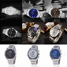 New Mens Business Dresss Stainless Steel Watches Quartz Analog Wrist Watch